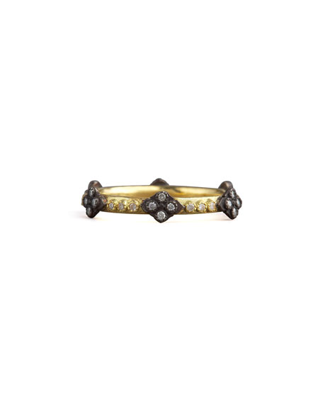 Armenta Crivelli Cross Diamond Ring, Gold