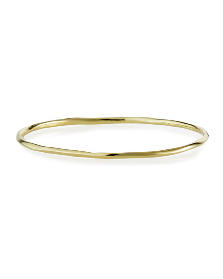 18K Gold Glamazon Thin Faceted Bangle