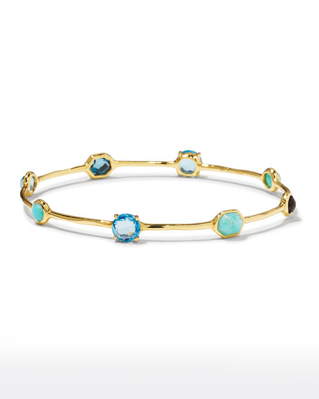 18K Rock Candy 8-Stone Bangle