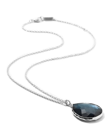 Silver Teardrop Pendant Necklace