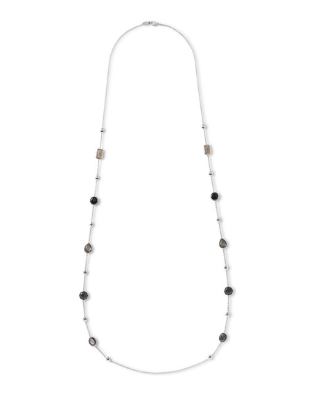 "925 Rock Candy® Medium-Station Necklace in Black Tie, 42""L"