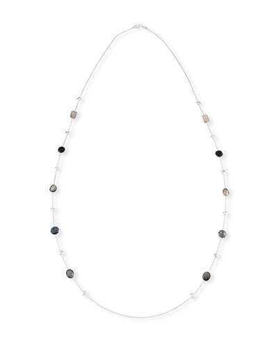 925 Rock Candy® Medium-Station Necklace in Black Tie, 42