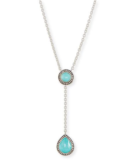 925 Lollipop Pear-Shaped Y-Drop Necklace with Diamonds