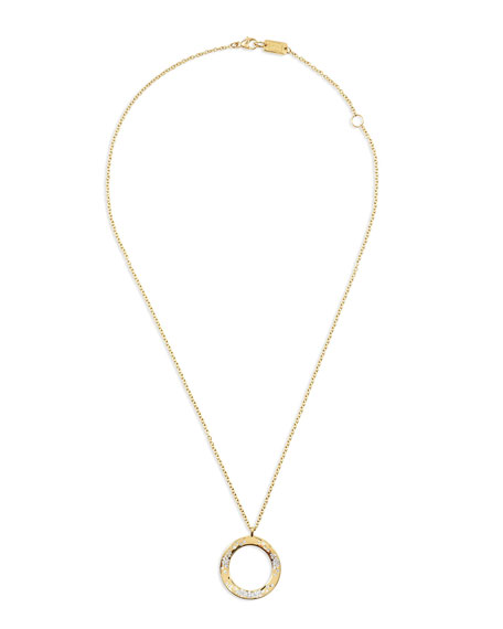 Ippolita 18K Glamazon Wavy Diamond Circle Necklace