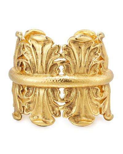 Sculpted Golden Cuff Bracelet