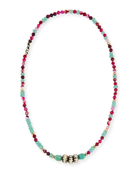 Akola Cuban Long Beaded Necklace, 42
