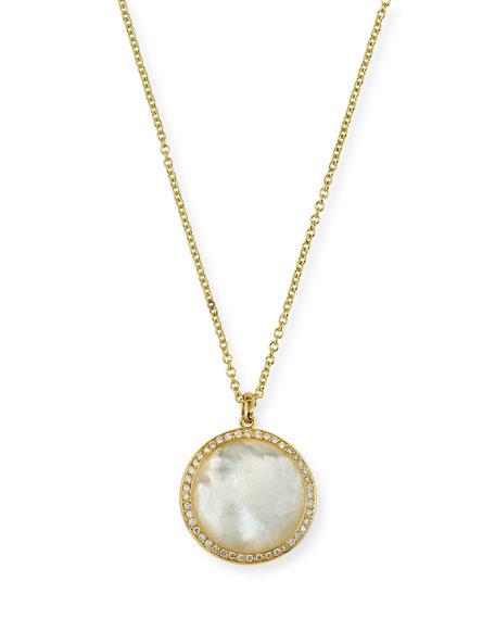 Lollipop Medium Pendant Necklace in 18K Gold with Diamonds