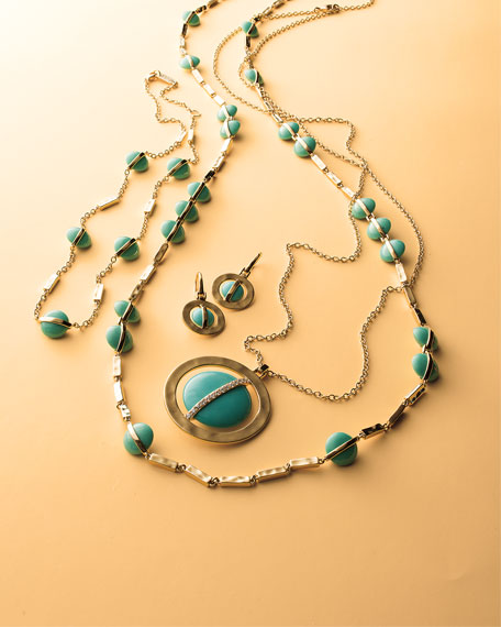 18K Senso™ Wrapped Station Necklace in Turquoise