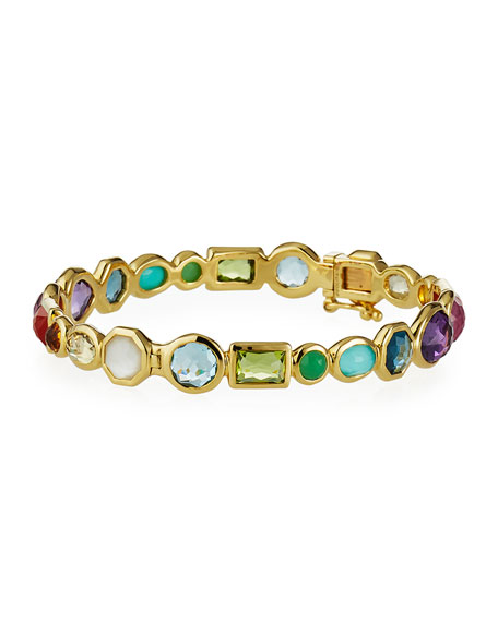 Ippolita 18K Rock Candy Hero Gelato Mixed Hinge Bracelet in Summer Rainbow