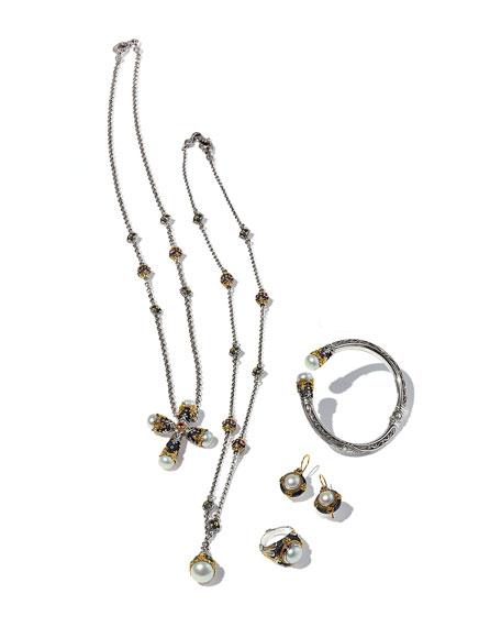 Pearly Open Cuff Bracelet