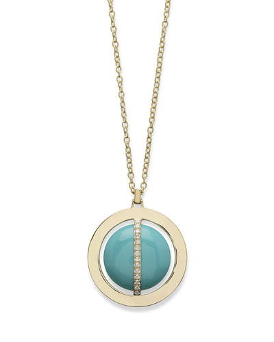 18K Senso Metal-Wrapped Turquoise Necklace with Diamonds  31