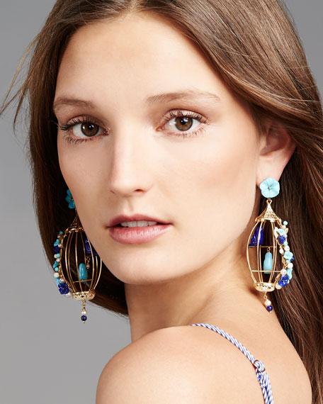 Lovebirds Lapis & Turquoise Drop Earrings