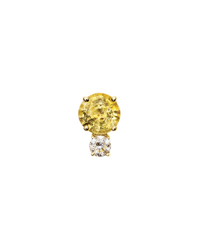 Prive Opal & Diamond Single Stud Earring