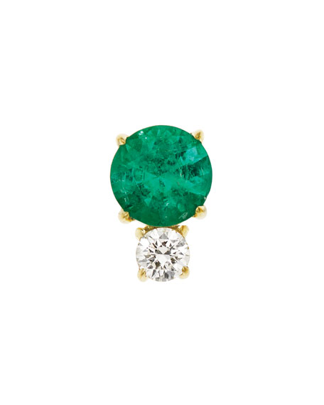 Prive Emerald & Diamond Single Stud Earring