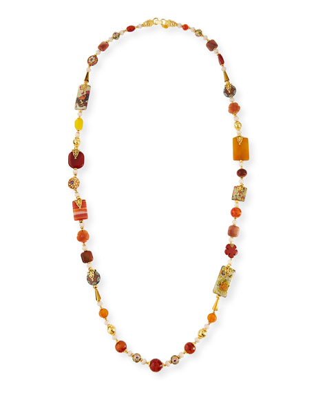 Jose & Maria Barrera Long Beaded Single-Strand Necklace h7e87RXsu