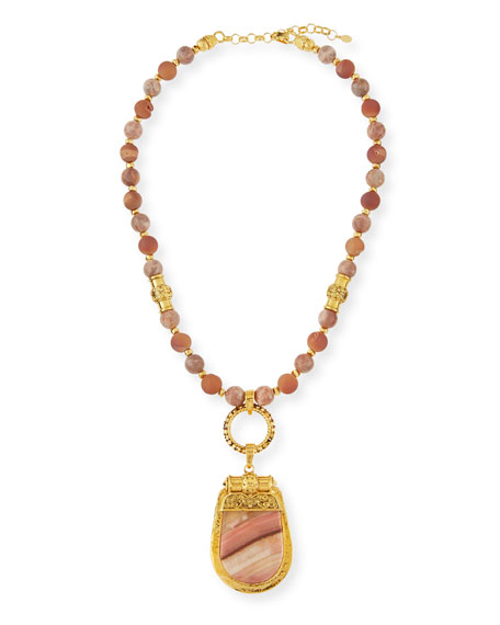 Jose & Maria Barrera Beaded Sunstone & Druzy