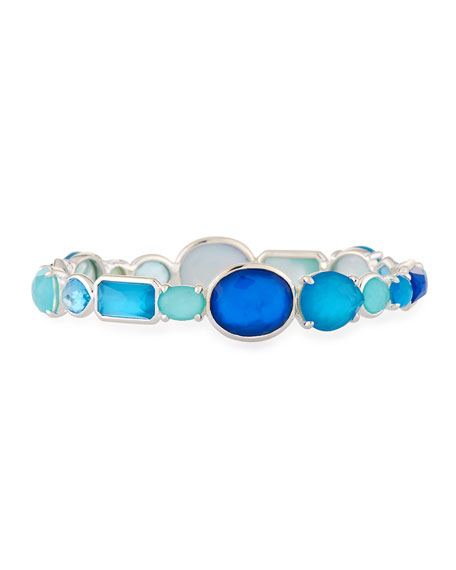 Rock Candy Mixed-Stone Bangle in Island