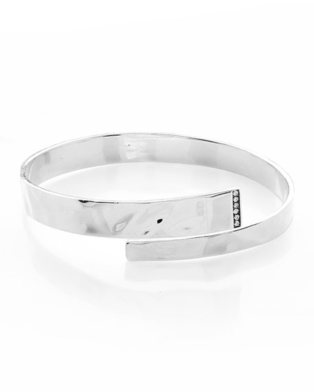 925 Senso™ Hinge Bypass Bangle Bracelet with Diamonds