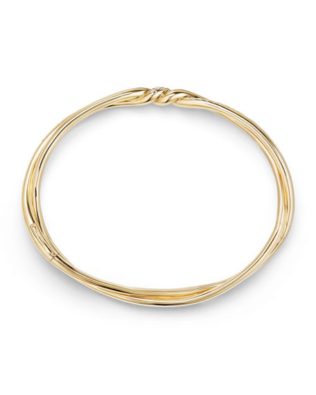 Image 3 of 3: David Yurman Continuance Twisted 18K Bracelet with Diamonds