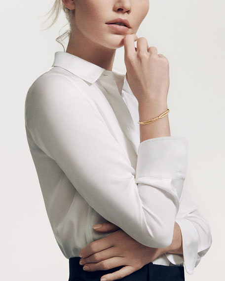 David Yurman 6mm Continuance Twisted 18K Bracelet, Size M