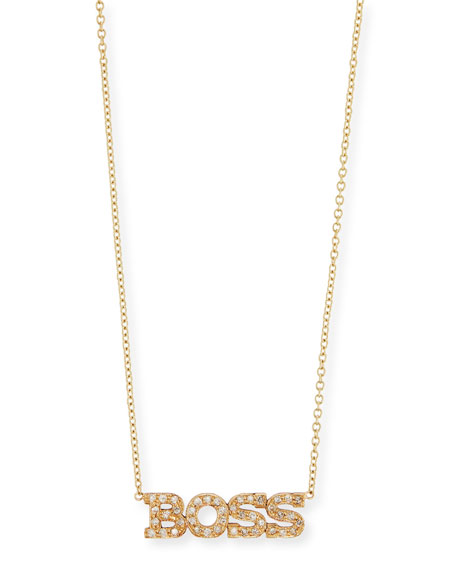 Zoë Chicco Personalized Four Letter Diamond Necklace in 14K Gold O2HwqBJZ