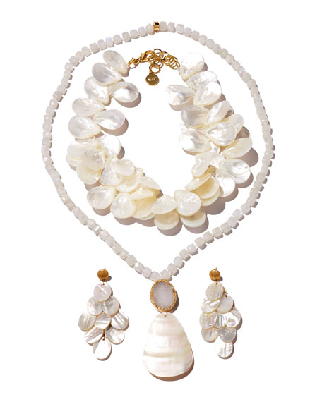 Image 2 of 3: NEST Jewelry Mother-of-Pearl Chandelier Earrings