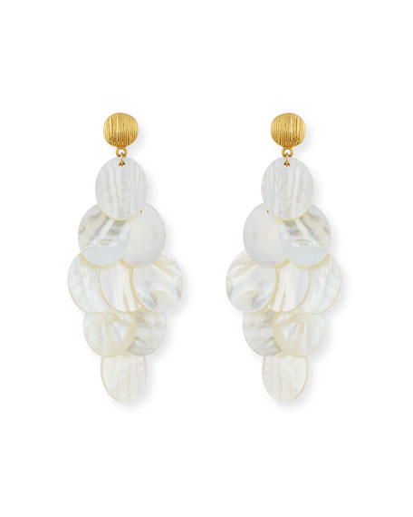 Nest Mother-of-Pearl Cluster Drop Earrings RVAhvX