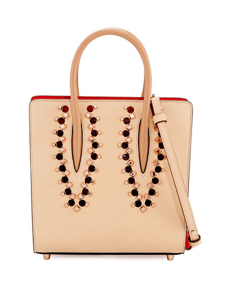 Christian Louboutin Paloma Small Studded Leather Tote Bag,