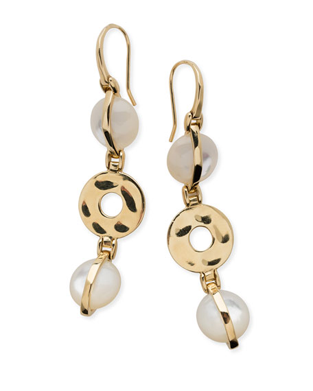 Ippolita 18K Senso Wrapped Drop Earrings in Mother-of-Pearl Avs95ikS8