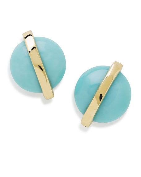 Ippolita 18K Senso??? Wrapped Stud Earrings in Turquoise