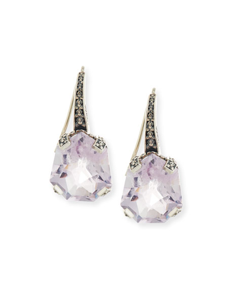 Galactical Drop Earrings in Pink Amethyst