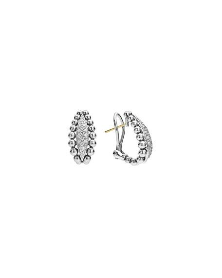 22mm Caviar Spark Diamond Huggie Hoop Earrings