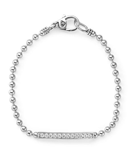 Small Caviar Spark Diamond Station Bracelet