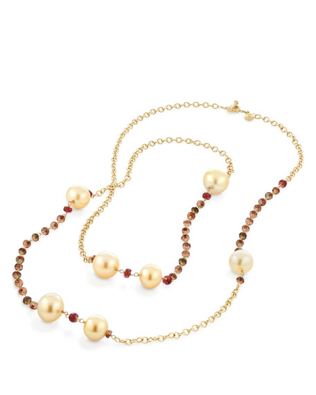 Cultured South Sea Golden Pearls, 10-12mm