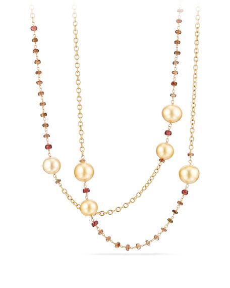 David Yurman Cultured South Sea Golden Pearls, 10-12mm