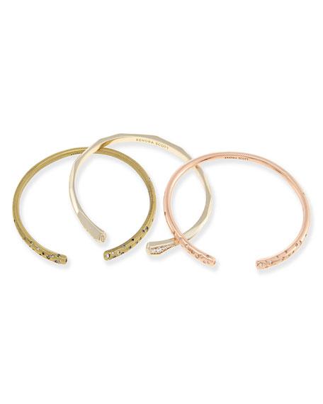 Zorte Stacking Cuff Bracelet Set, 3 Pieces