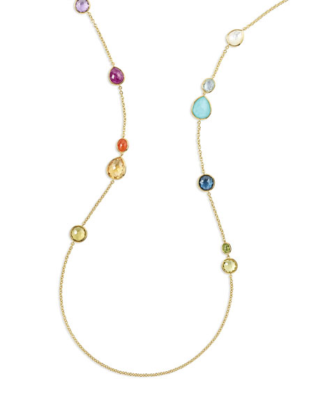 Ippolita 18K Rock Candy® Mixed Stone Long Necklace in Summer Rainbow, 40""