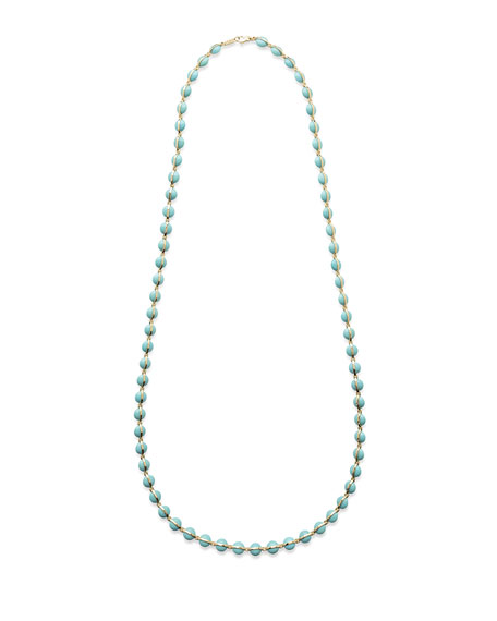 18K Senso™ Metal-Wrapped Turquoise Necklace, 40""