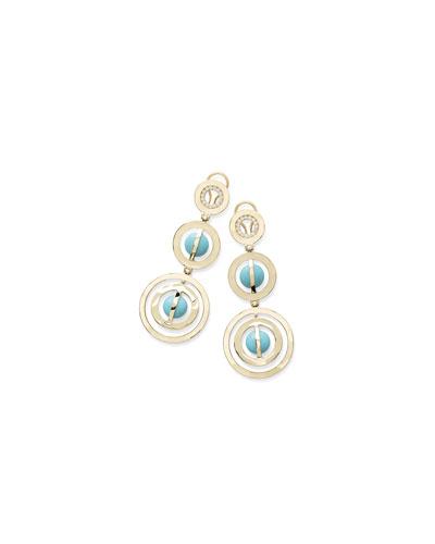 18K Senso™ Turquoise & Diamond Drop Earrings