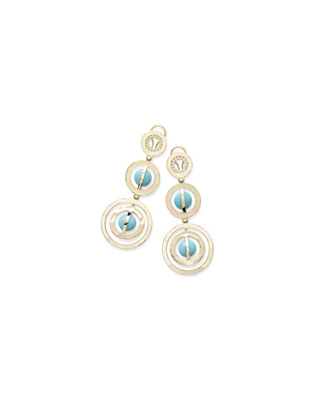 Ippolita 18K Senso?? Turquoise & Diamond Drop Earrings