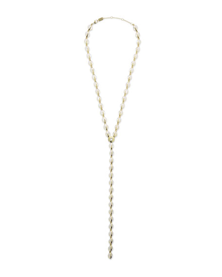 18K Senso™ Metal-Wrapped Mother-of-Pearl Y-Drop Necklace, 22""