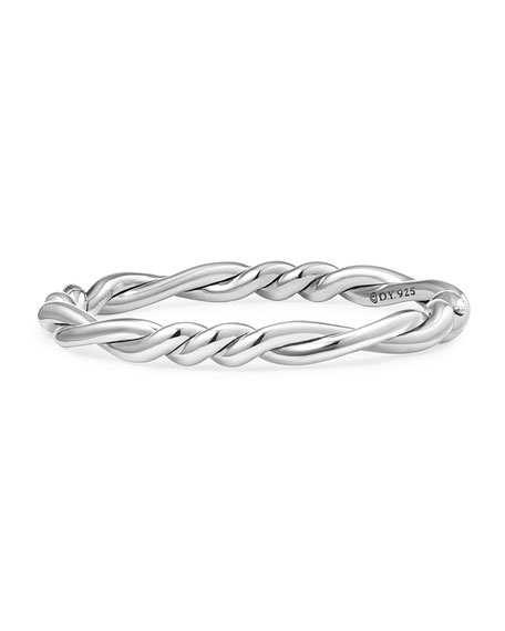 7mm Continuance Twisted Sterling Silver Bracelet