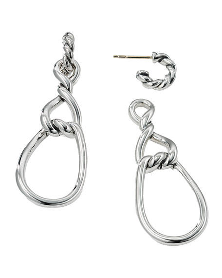 Image 3 of 3: David Yurman Continuance Twisted Teardrop Earrings
