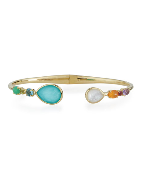 Mixed-Station Bangle Bracelet