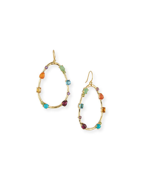Ippolita 18k Rock Candy Large Multi-Stone Teardrop Earrings in Rainbow