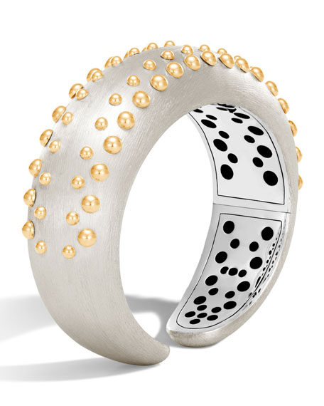 John Hardy Dot Medium Silver & 18K Cuff