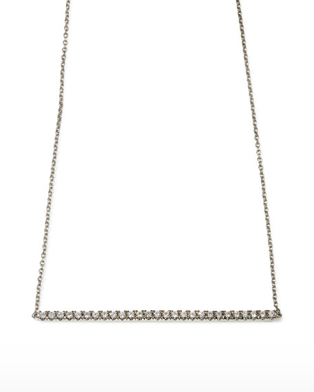 Roberto Coin 18k Gold Diamond Bar Necklace