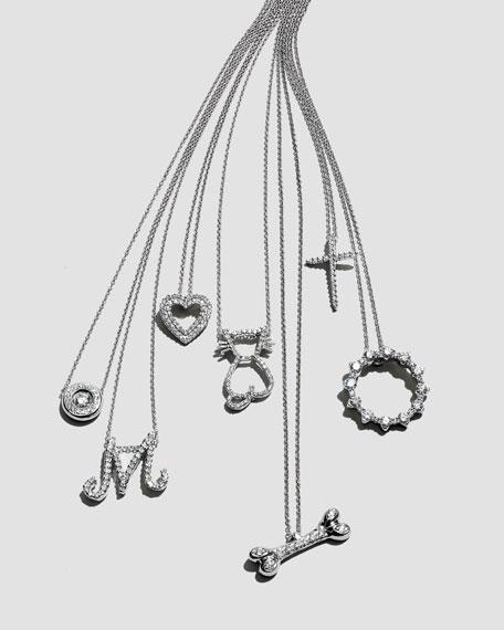 18k Gold Pave Diamond Pendant Necklace