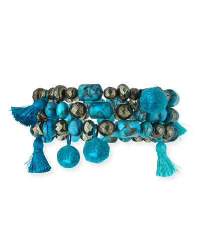 Eleanor Set of Three Beaded Bracelets