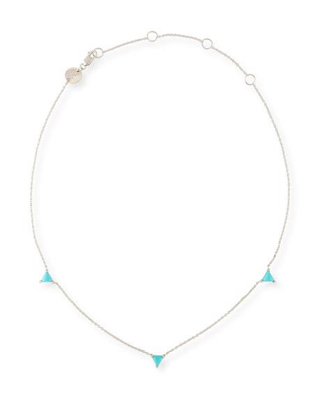 Jennifer Zeuner Koi Turquoise Station Choker Necklace